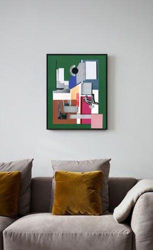 """Collage """"La danse des couleurs"""""""