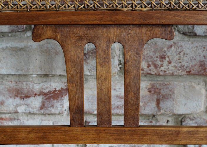 Banc en bois courbé en excellent état restauré