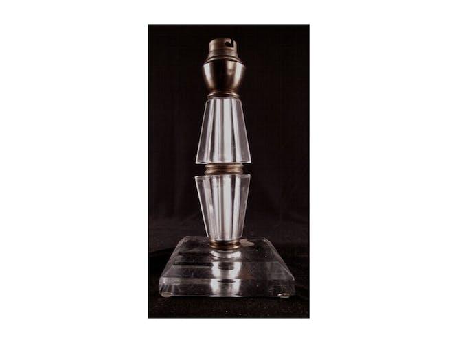 Lampe en cristal d'époque art deco signé cristel andelle france