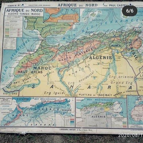 Carte Afrique du Nord Hatier