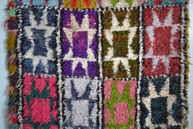 Carpet boucherouite 193 x 137 cm