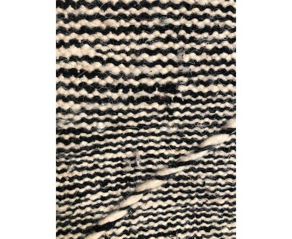 Kilim berbère marocain Zanafi noir et blanc 3,11x2,07m