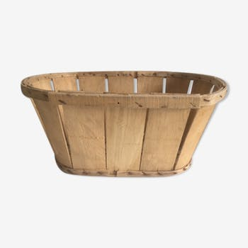 Light wooden storage box type basket crate
