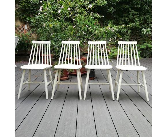 Suite de 4 chaises Tellus d'Ikea, années 60
