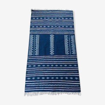 Blue carpet Moroccan 160x90cm