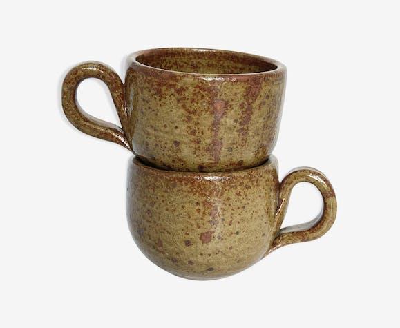 Paire de tasses en grès