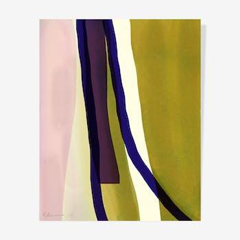 Romantic Stripes Ink — 40 x 50 cm