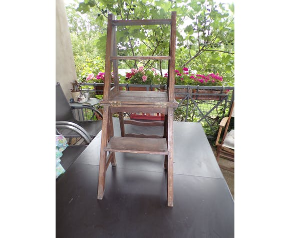 Old folding chair stepladder