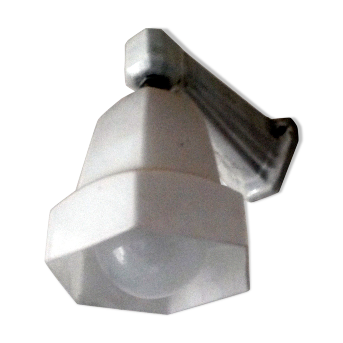 Elegant Applique Salle De Bain Porcelaine Opaline 1930