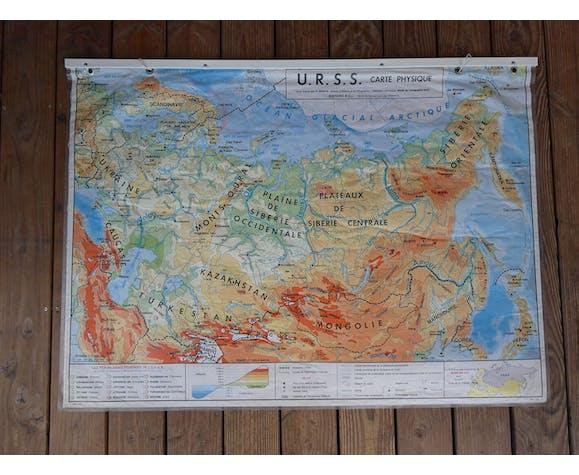 School map poster vintage USSR MDI edition - 1978