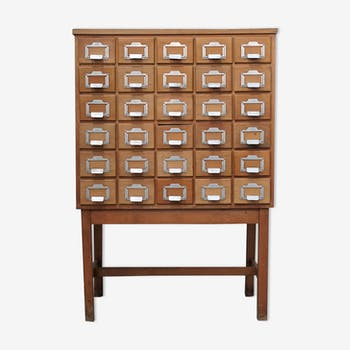 Vintage library drawer cabinet