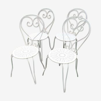 White wrought iron chairs