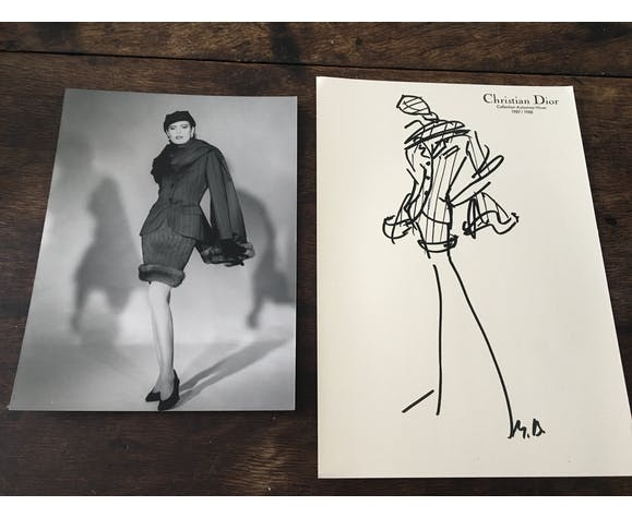 Press fashion illustration with his photography collection 1987/1988