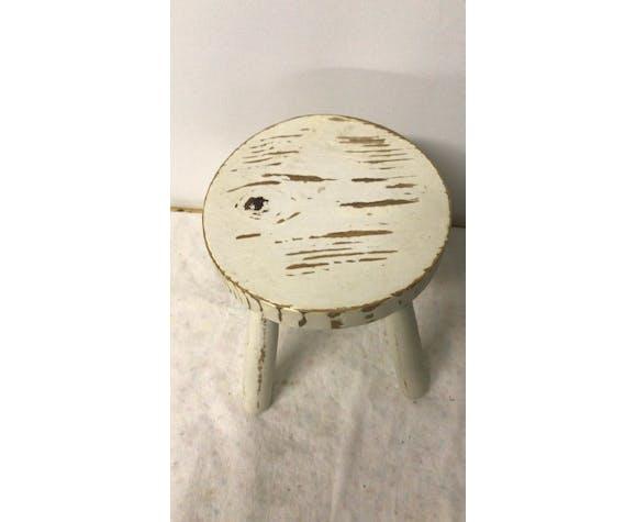Tabouret trépied blanc