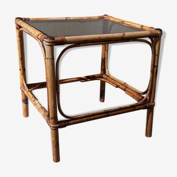 Table low rattan bamboo vintage