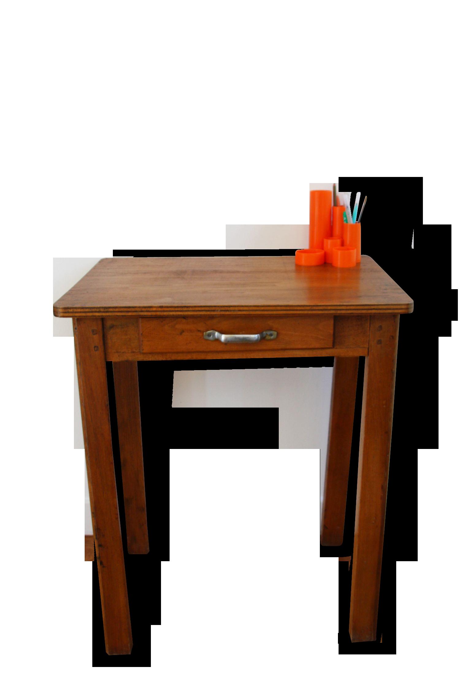 Ancienne petite table bureau dappoint bois Matriau marron