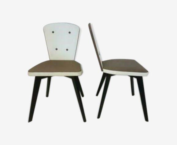 2 chaises de cuisine vintage