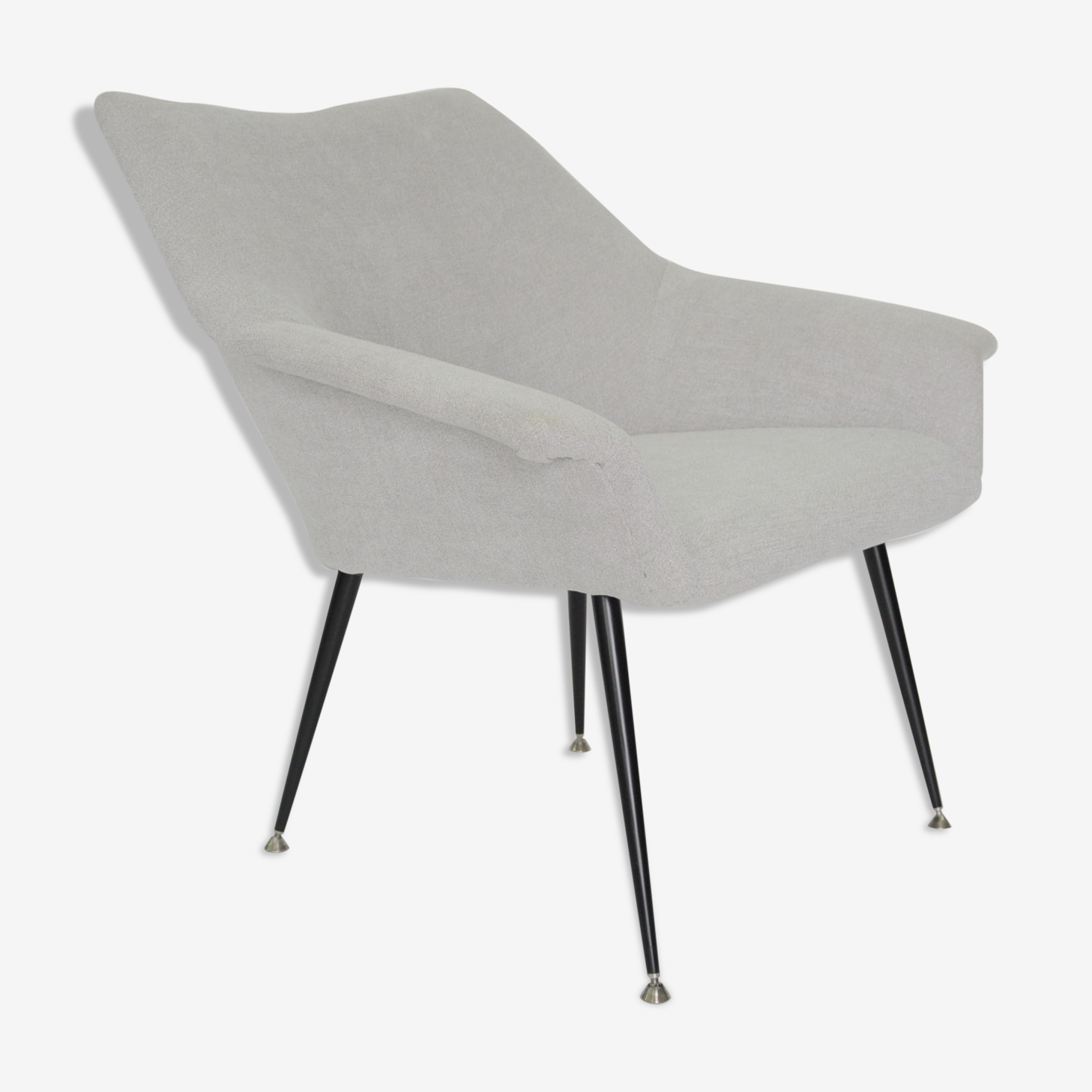 Fauteuil coquille gris beige