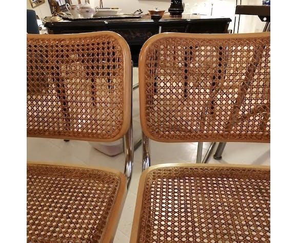 Paire des chaises Cesca B32 de Marcel Breuer