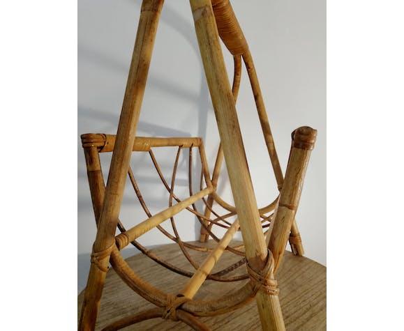 Porte revue vintage bambou & rotin