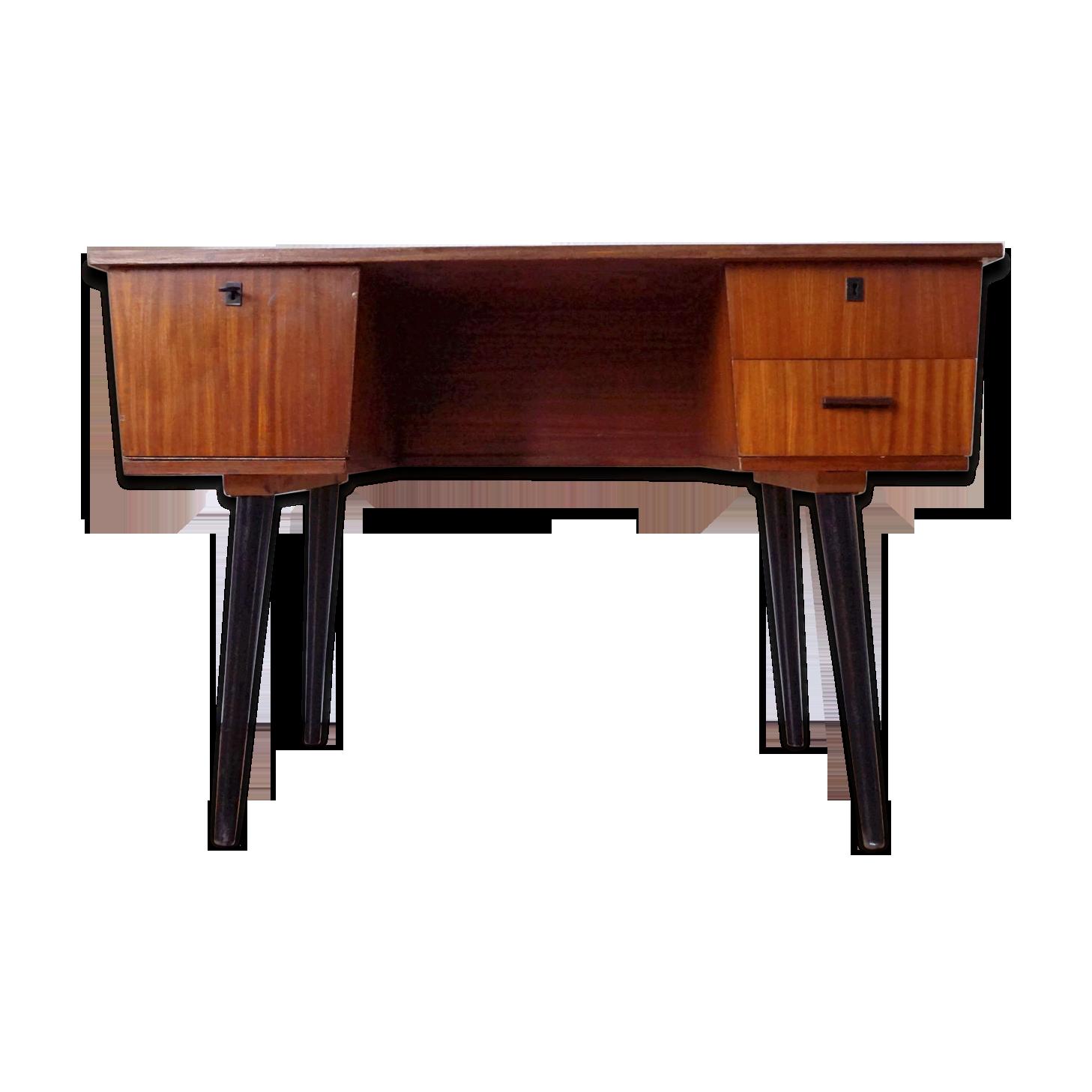 Bureau de style scandinave en bois des annees bois matériau