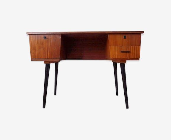 Bureau de style scandinave en bois des annees 60 bois matériau