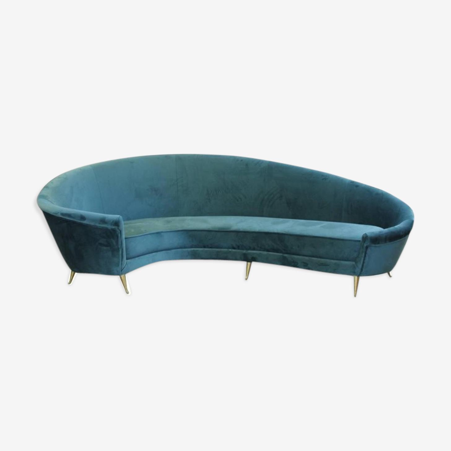 Canapé incurvé italien des années 1950