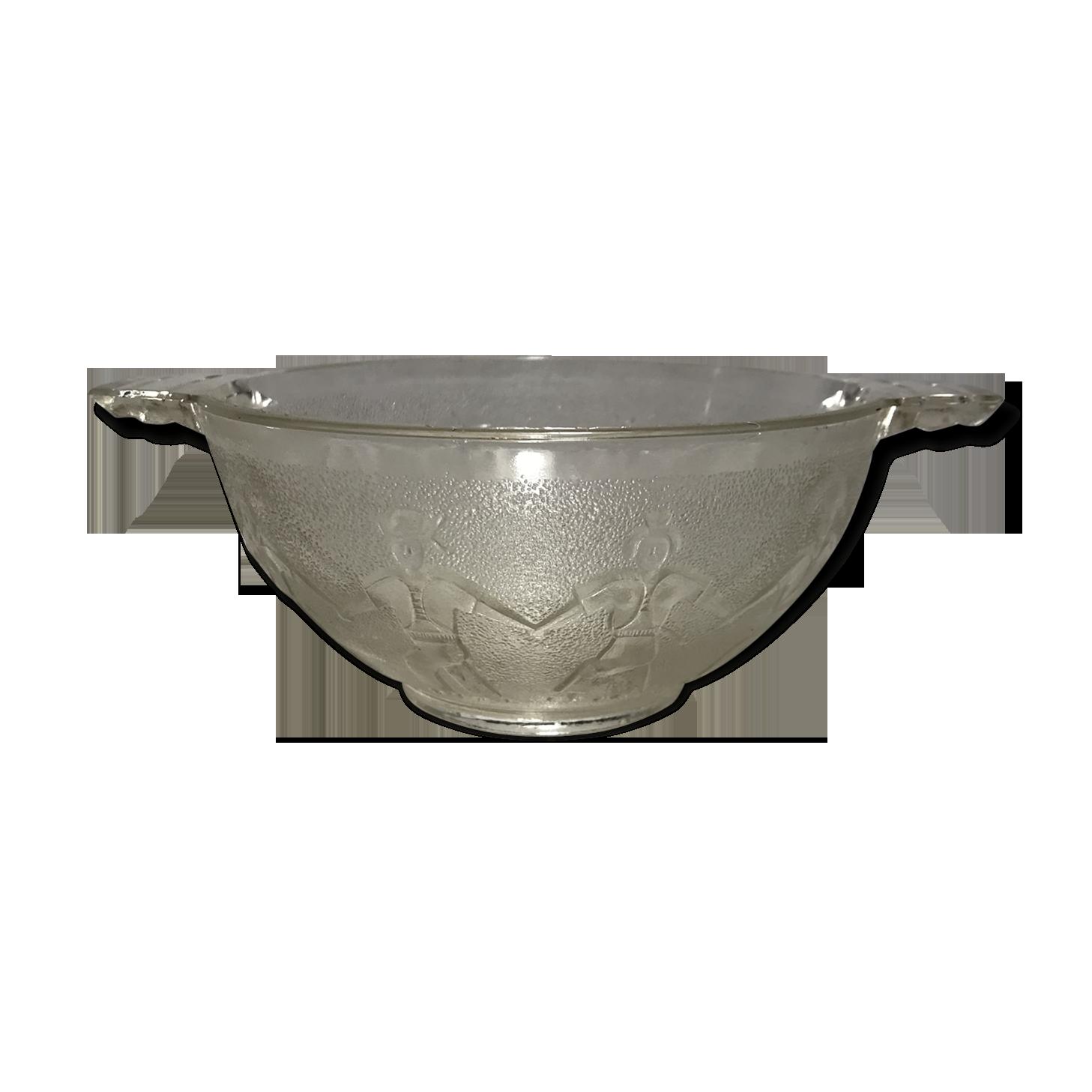 Grand verre serving bowl avec 6 verre petits bols de punch dessert serving vaisselle