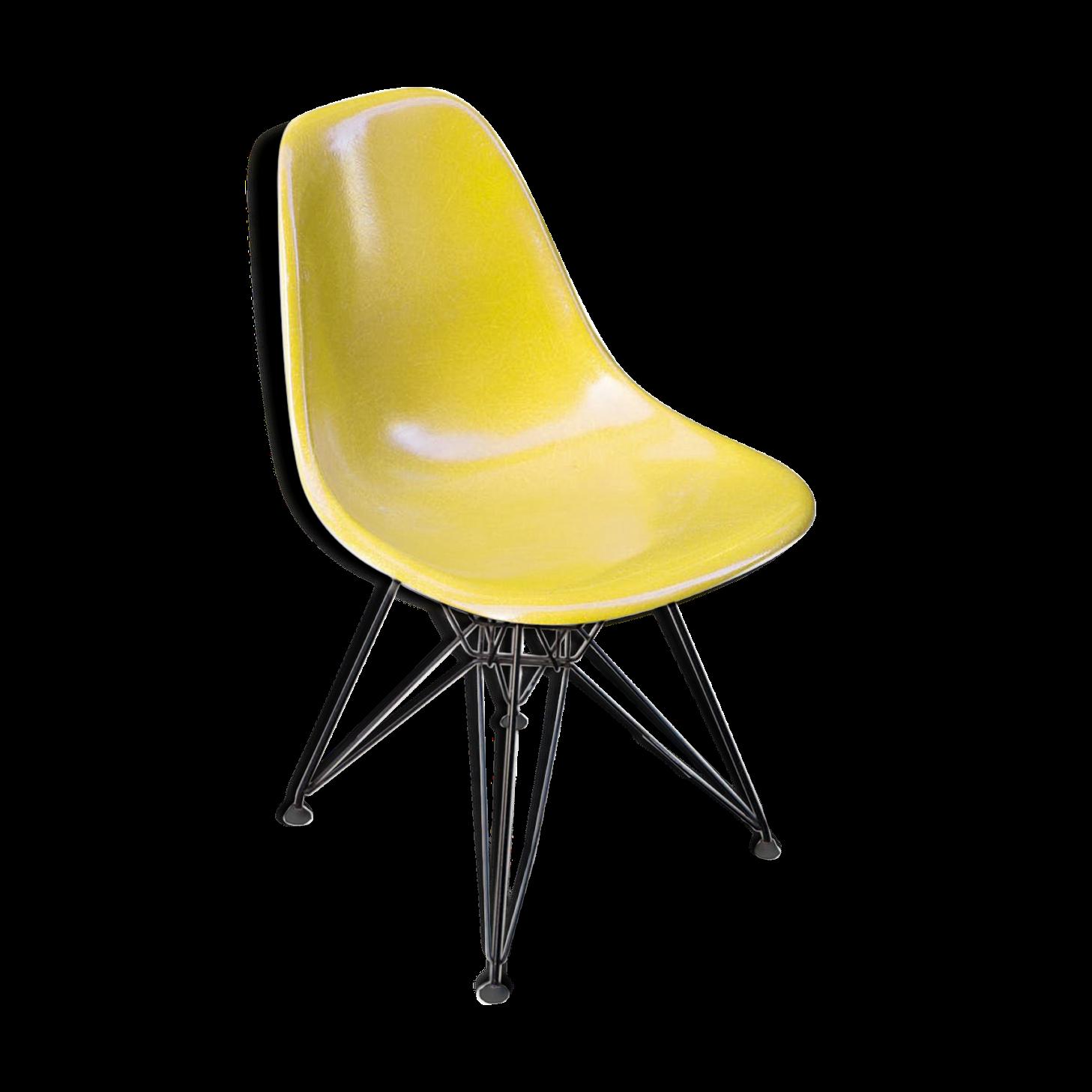 Beautiful Chaise Eiffel Herman En Fibre De Verre Charles Ray Eames With
