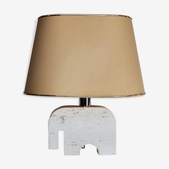 Lampe en marbre travertin par Fratelli Manelli années 1970