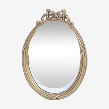 Mirror wooden gold 21 x 30 cm