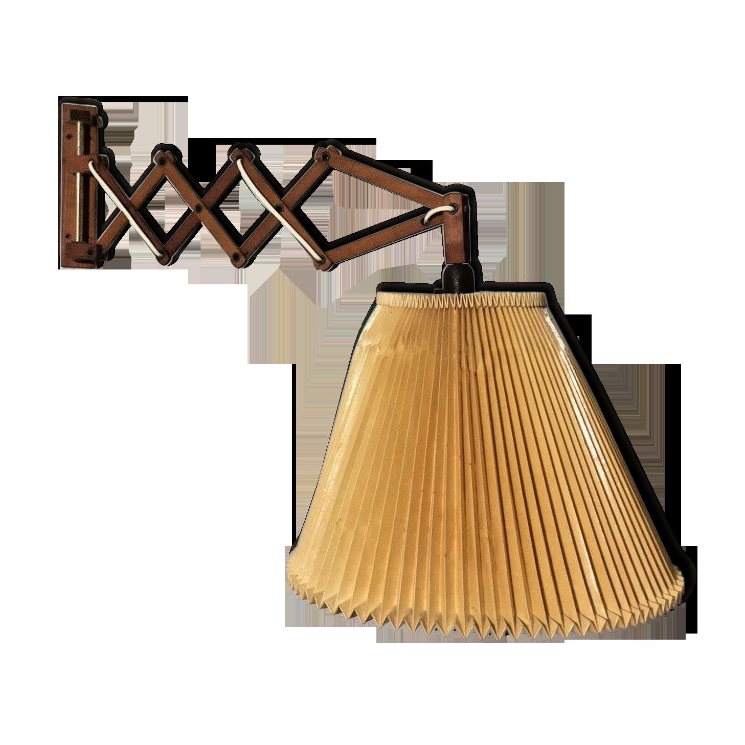 Applique vintage bras ciseaux bois bois matériau marron
