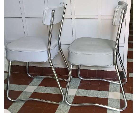 Paire de chaises de bureau industrielle