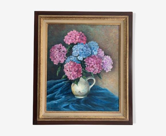 Nature morte hortensias