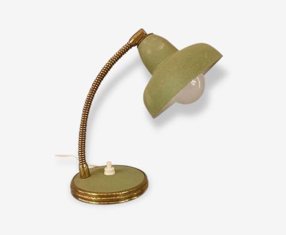 Lampe Bureau Chevet Verte Vintage Annees 50 Metal Vintage 114501