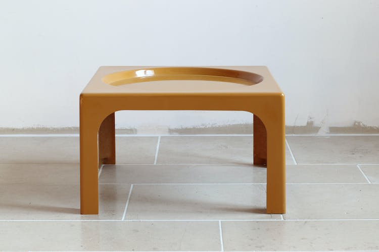 Low table in fiberglass, 1970s