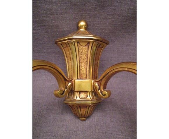 Applique double ancienne en bronze