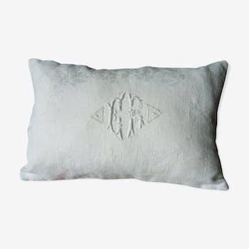 small old monogram cushion
