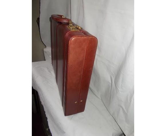 Leather briefcase-case