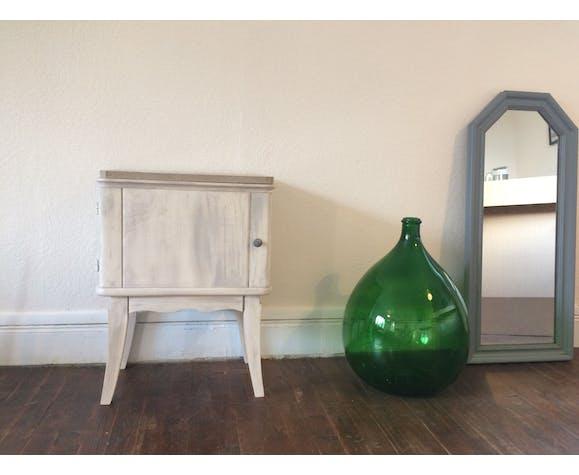 Table de chevet bois et marbre