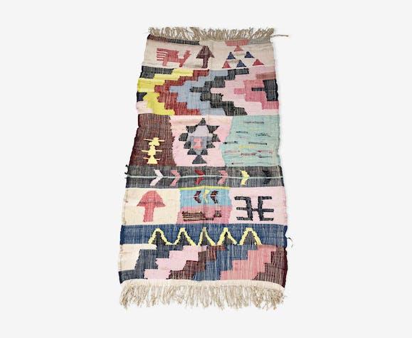 Tapis berbère marocain Kilim Boucherouite Neuf 168x100cm