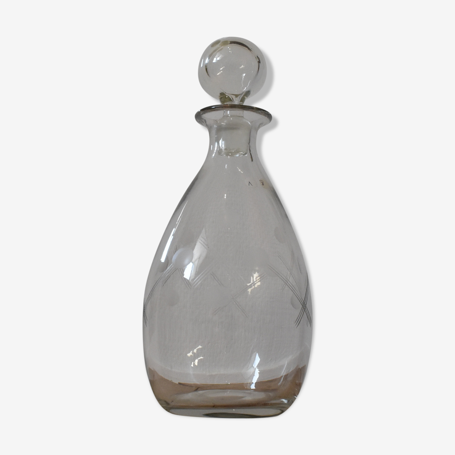 Carafe boule en cristal
