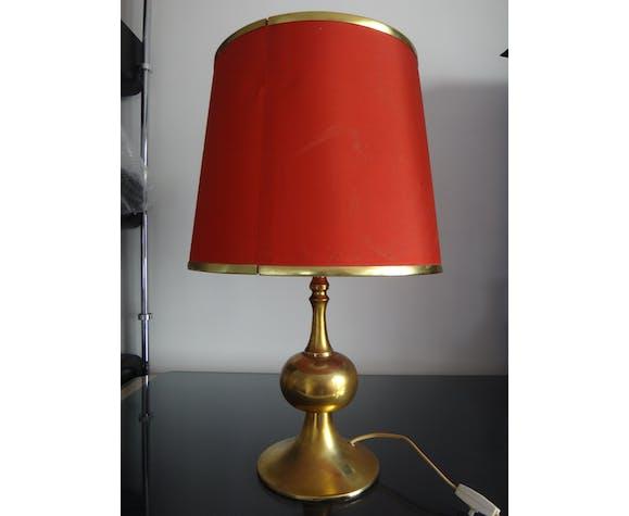 Lampe de table doré design Barbier tulipe 1970 designer