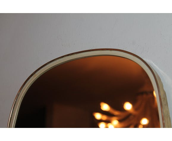 Large mirror backer of the 60s asymetrique free form 78 x 30cm