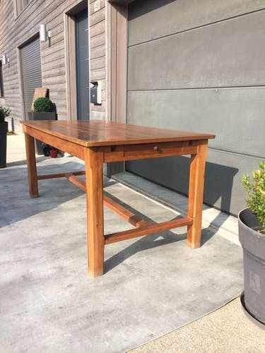 Stretchy farm table Walnut 1969