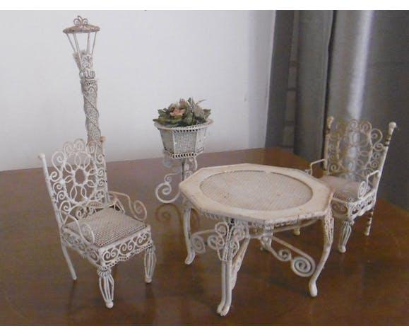 Salon de jardin miniature