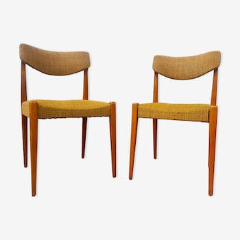 Pair of chairs mustard color, 60s/70s