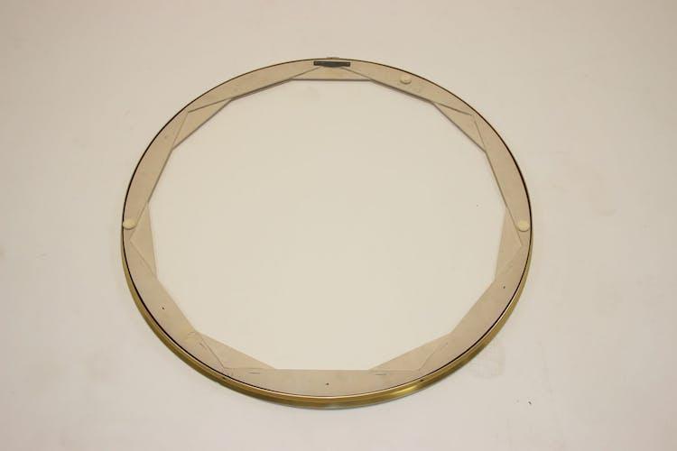 Miroir chromé rond des années 1960 - 57cm