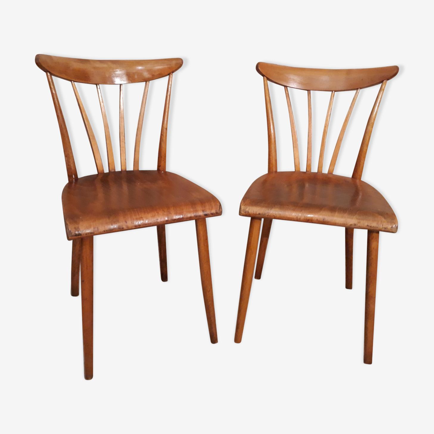 """Paire de chaises """"bistrot"""" style moderniste"""