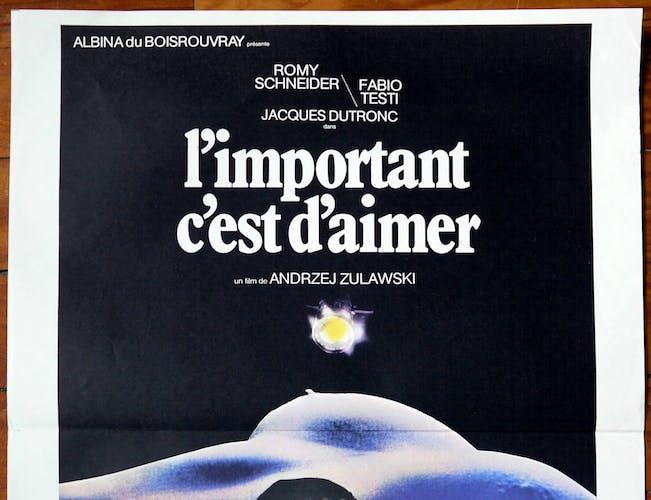 """Affiche cinéma originale """"l'important c'est d'aimer"""" Andrzej Zulawski"""